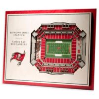 NFL Tampa Bay Buccaneers 5-Layer Stadium Views 3D Wall Art