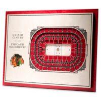 NHL Chicago Blackhawks 5-Layer Stadium Views 3D Wall Art