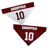 NFL San Francisco 49ers Jimmy Garoppolo Small/Medium Reversible Dog Bandana