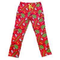 NFL Fantasy Life Logo Print Men's Small Pajama Pant in Red