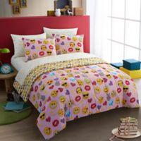 Emoji Pals Bling 7-Piece Full Comforter Set in Pink