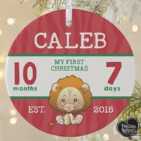 1-Sided Matte Precious Moments Personalized Baby's 1st Christmas Ornament