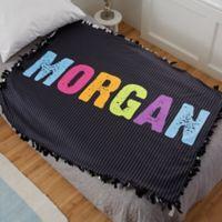 All Mine! Personalized Fleece Tie Blanket