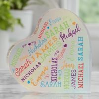 Close To Her Heart Personalized Colored Heart Keepsake
