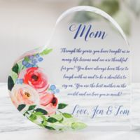 Write Your Own Mother Personalized Colored Heart Keepsake