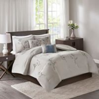 Katia 5-Piece California King Comforter Set in Blue/Grey
