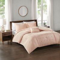 510 Design Natalee 4-Piece King/California King Comforter Set in Blush