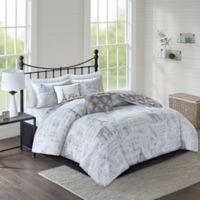 Marseille 5-Piece Reversible King/California King Comforter Set in Grey/Charcoal