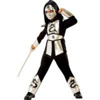 Rubies© Silver Dragon Ninja Child's Large 4-Piece Costume