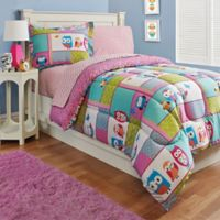 Kidz Mix Owl 2-Piece Twin Comforter Set in Pink