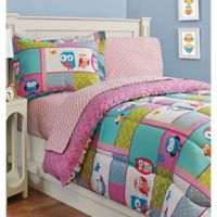 Kidz Mix Owl Twin Sheet Set in Pink