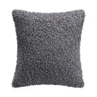 Santa Fe Curly Lamb Square Throw Pillow in Grey