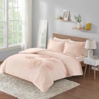 Intelligent Design Ella Floral 3-Piece Full/Queen Comforter Set in Blush