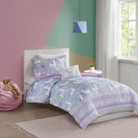 Mi Zone Kids Andes Llama 3-Piece Reversible Twin/Twin XL Comforter Set in Lavender