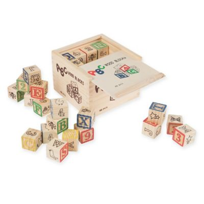 Hey Play 48 Piece Abc And 123 Wooden Blocks Set