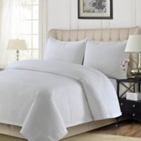 Tribeca Living Como Twin Quilt Set in White