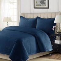 Tribeca Living Como Twin Quilt Set in Estate Blue