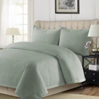 Tribeca Living Como Twin Quilt Set in Sage Green