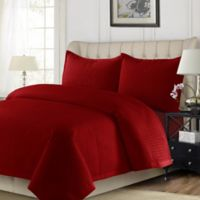 Tribeca Living Como King Quilt Set in Red