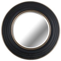 28-Inch Round Wall Mirror in Black