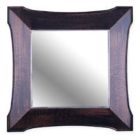 Decorative Framed 20-Inch Square Mirror in Brown