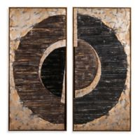 Bassett Mirror Company Infinity Canvas Wall Art in Brown (Set of 2)