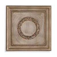 Bassett Mirror Company Laurel Wreath Medallion Canvas Wall Art in Champagne Leaf