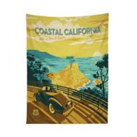 Deny Designs 60-Inch x 80-Inch Coastal California Tapestry