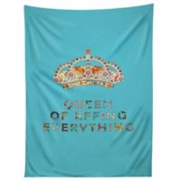 Deny Designs Bianca Green Her Daily Motivation Tapestry in Blue