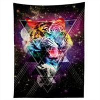 Deny Designs Ali Gulec Cosmic Tiger Tapestry in Black