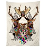 Deny Designs Forest Friends Tapestry in Black