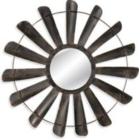 Nolan 48-Inch Round Wall Mirror in Antique Iron