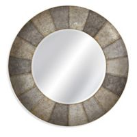 Norris 48-Inch Round Wall Mirror in Aged Aluminum