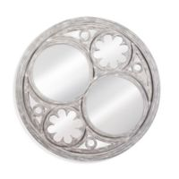 Dawson 48-Inch Round Wall Mirror in Weathered Grey