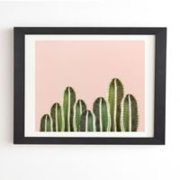 Deny Designs Cactuses 8-Inch x 9.5-Inch Framed Wall Art