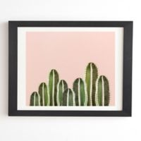 Deny Designs Cactuses 14-Inch x 16.5-Inch Framed Wall Art