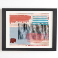Deny Designs Abstract 14-Inch x 16.5-Inch Framed Wall Art