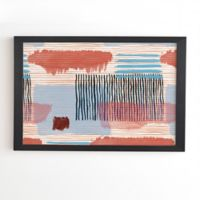 Deny Designs Abstract 20-Inch Square Framed Wall Art