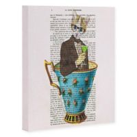 Deny Designs Cat In A Cup II 8-Inch x 10-Inch Canvas Wall Art