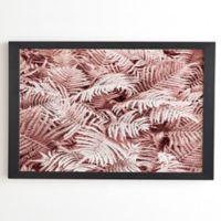 Deny Designs Pink Ferns 20-Inch Framed Wall Art