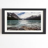 Deny Designs Lake Louise Wide View 8-Inch x 9.5-Inch Framed Wall Art