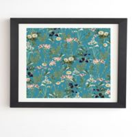 Deny Designs 8-Inch x 9.5-Inch 83 Oranges Teal Botanical Garden Framed Wall Art