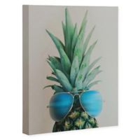 Deny Designs Pineapple In Paradise 8-Inch x 10-Inch Canvas Wall Art in Blue