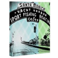 Deny Designs Santa Monica California 16-Inch x 20-Inch Canvas Wall Art