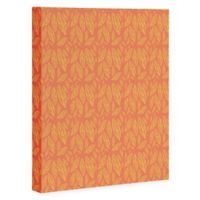 Deny Designs 16-Inch x 20-Inch Allyson Johnson Fall Leaves Pattern Canvas Wall Art