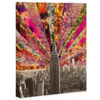 Deny Designs 8-Inch x 10-Inch Bianca Green Blooming NY Canvas Wall Art