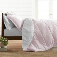 All Season Down Alternative 2-Piece Reversible Twin/Twin XL Comforter Set in Blush