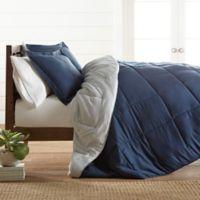All Season Down Alternative 3-Piece Reversible King/California King Comforter Set in Navy