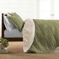 All Season Down Alternative Reversible King/California King Comforter Set in Sage