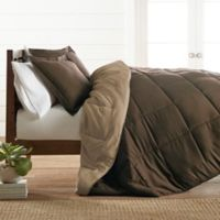 All Season Down Alternative 2-Piece Reversible Twin/Twin XL Comforter Set in Taupe